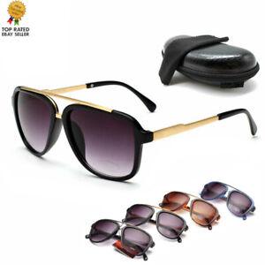 Outdoor Sport  Men & Women's Retro Ca Sunglasses Unisex Matte Frame Glasses box