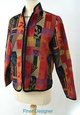 CWC Coldwater Creek jacket blazer light Coat fall tapestry full zip XS NWT $99