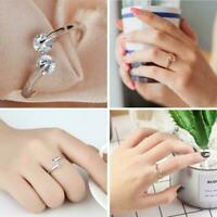 TWIN CUBIC ZIRCONIA RING Thumb/Wrap Ring ADJUSTABLE D6O9