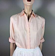 RALPH LAUREN Damen Bluse Gr S 36 Rosa Reines Leinen Oberteil Top Blouse Basic