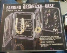 Crystal Clear Earring Organizer Case NIB
