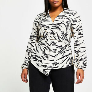 River Island Womens Long Sleeve Twist Front Shirt