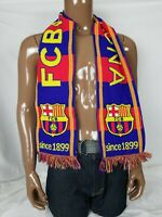 FC BARCELONA 1899 Official SCARF Import Soccer Football Club Team Knit FCB Game