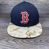 Boston Red Sox 59Fifty New Era Baseball Hat  6 7/8 Fitted MLB Navy Digital Camo