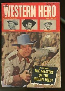 WESTERN HERO #105 GOOD 2.0 TOM MIX / MONTE HALE / TEX RITTER 1951 FAWCETT
