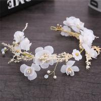 Fashion Women Beaded Flower Hairband Clips Bridal Headband Jewelry Accessories