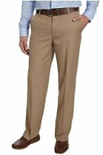 NEW MENS 38X32 KHAKI IZOD PERFORMANCE 4 WAY STRETCH DRESS PANTS FLAT COMFORTFLEX