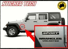 Jeep Wrangler Unlimited Sport OEM Fender Guard JK Rubicon Vinyl Sticker Decal