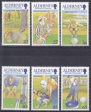 Alderney 2001 173-78  Golfclub    postris/mnh