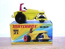 Matchbox Lesney No.21e Rod Roller In 'I1' Box (NO LABEL VERSION GREEN BASE VGC!)