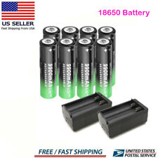 Rechargeable 18650 Battery 3.7V Li-ion Batteries with Charger for LED Flashlight