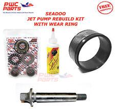 SeaDoo Jet Pump Rebuild Kit Wear Ring Impeller Shaft Oil SP SPI XP SPX GTX GSX