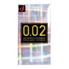 USA Seller Japanese Okamoto Condom 002 0.02 EX Excellent Polyurethane 12 Pcs