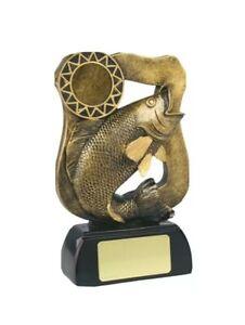 """Carp Fishing Trophy Award Resin 6.75"""" Free Engraving"""