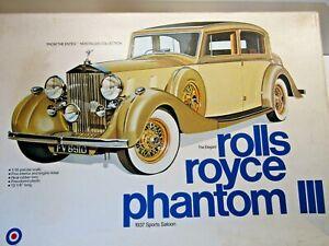 Entex Vintage 1:16 Scale 1937 Rolls Royce Phantom lll Sedan Model Kit # 9000