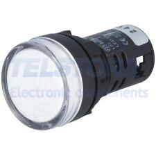 1pcs  Spia 22mm Retroilluminato LED 24V DC convessa IP65 -20÷60°C TELSTORE