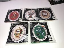 New ListingLof of 5 Nmi Stitch N Hang Counted Cross Stitch kits Christmas new Lot