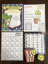Teacher Made Multiplication Game Center Supplies Math Resource File Folder