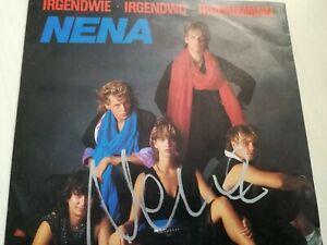 """Nena, Single """"Irgendwie, Irgendwo, Irgendwann"""" mit Origi. Autogramm von NENA"""