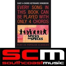 SPICKS & SPECKS EASY 4 CHORD SONG BOOK PIANO AND KEYBOARD SONGBOOK!