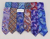 Geoffrey Beene Men's 100% Silk Ties One Size