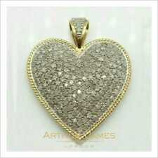 Women WoHeart Shape Cluster Pendant 2 Ct Round Diamond White Gold Finish Jewelry