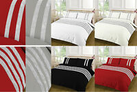 Egyptian Cotton 200 Thread Diamond Duvet Cover Set Single Double Super King