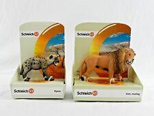 2 New SCHLEICH Toy Animal Figurine Wild Life Africa 14726 Lion 14735 Hyena