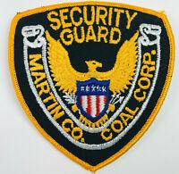 Martin County Coal Corp Security Guard Inez Kentucky Patch
