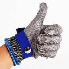 Size M Safety Cut Proof Stab Resistant Stainless Steel Metal Mesh Butcher Gloves