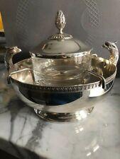 Christofle France Caviar Dish Crystal Bowl 1450$