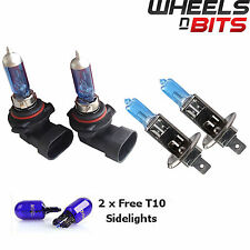 2x HB4 & H1 55w HALOGEN HID XENON GAS FILLED BULBS upto 50% BRIGHTER Cool Blue