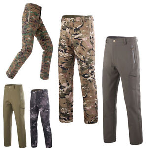 Shark Skin Soft Shell Pant Men waterproof Military Tactical outdoor trousers 3XL