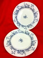 Arcopal Glenwood Salad Plate White Opaque Glass Blue Floral Design - Set of 4