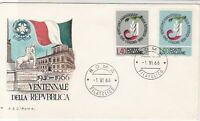 Italy 1966 Twenty Years of the Republic Roma Cancel FDC Stamps Cover ref 22400