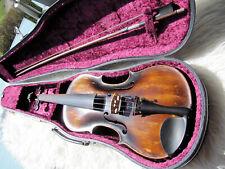Sehr alte 4/4 Violine mit Koffer,Bogen,rissfrei,spielbar,Innenzettel STAINER