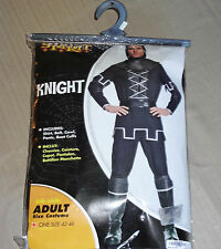 EUC Medieval Renaissance Black Knight Mens Adult Halloween Costume One Size