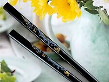 CHINESE BLACK LUCKY DRAGON CHOPSTICKS HAIR STICK JAPANESE BIRTHDAY DINNER PARTY