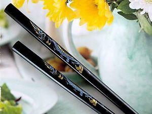 CHINESE BLACK LUCKY DRAGON CHOPSTICKS HAIR STICK JAPANESE BIRTHDAY DINNER PARTY