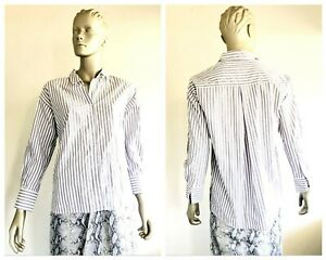 COUNTRY ROAD Womens Vertical Stripe Long Sleeve Button Down Shirt Size 10 BNWT