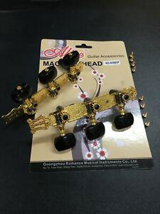 Alice AO-020B3P Premium Gold Plated Machine Head for Classical Guitar-Full Set
