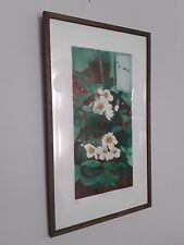 Original limited edition etching by Valerie E.Daniel (b .1926) 'Christmas roses'