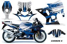 AMR Racing Graphic Kit Wrap Part Suzuki GSXR 1000 Street Bike 01-02 CARBON X BLU