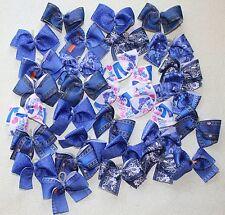 "30 small Denim print Dog Bows Dog Grooming Bows ""Blue Jeans Dog Bows"" USA Yorkie"