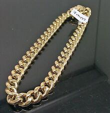 New 10K Men's Yellow Gold 7mm Miami Cuban Bracelet With Box Lock