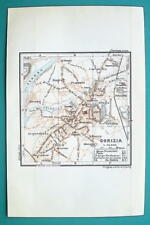 1931 BAEDEKER MAP - Italy GORIZIA Town Plan + Railroads