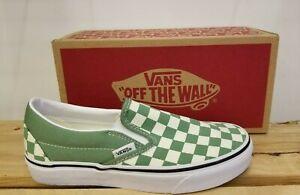 Vans Slip-On Checkerboard Shale/true White Classic Skateboarding Shoes for Women