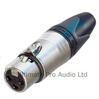 Neutrik Female XLR Audio Connector NC3FXX 3 Pin Pole Nickel Body