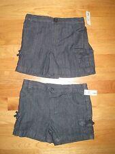Twin girls BLUE JEAN DENIM SHORTS W/ CARGO POCKETS NWT 4T SPRING SUMMER
