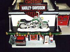 HARLEY DAVIDSON MOTORCYCLE SHOP - DEPARTMENT 56 - SNOW VILLAGE
